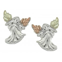 Black Hills Gold on Sterling Silver Angel Earrings