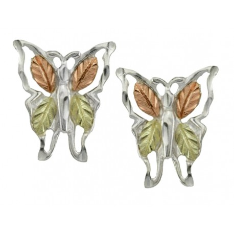 BLACK HILLS STERLING SILVER BUTTERFLY EARRINGS