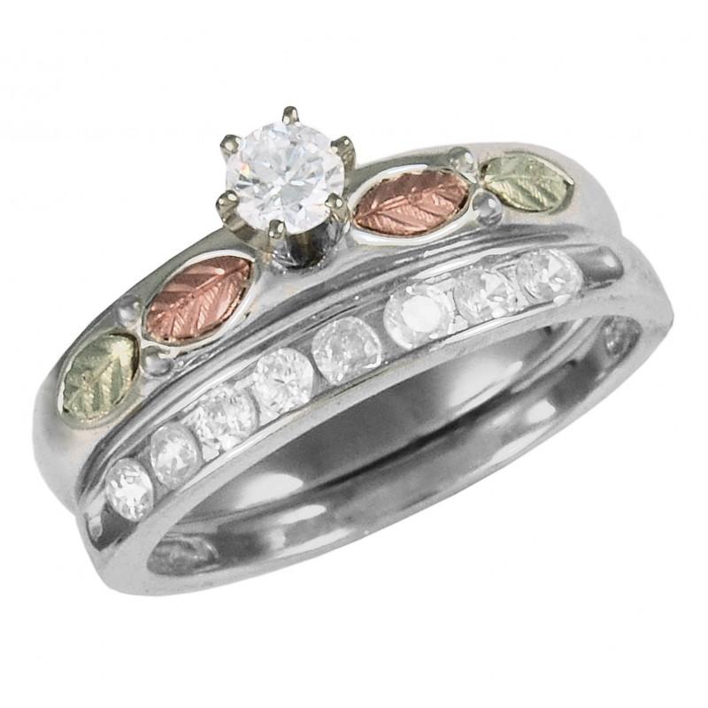 Black Hills Sterling Silver Wedding Rings