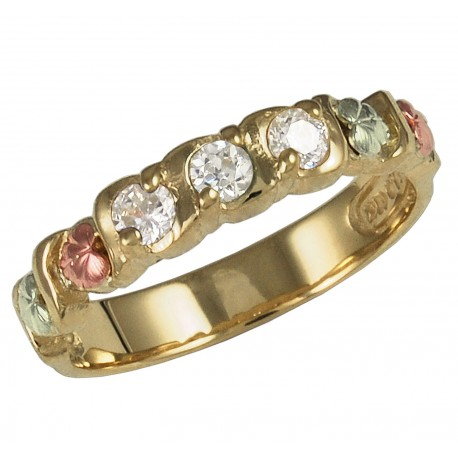 Black Hills Gold Woman's Diamond Ring