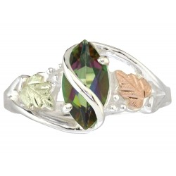 Black Hills Gold On Sterling Silver Mystic Fire Womans Ring