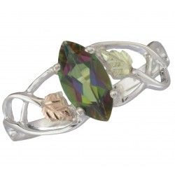BHG STERLING SILVER LADIES MYSTIC FIRE RING