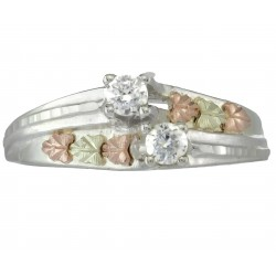 Double Cubic Zirconia Sterling Silver Ring