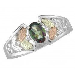 Black Hills Gold .925 Silver Mystic Fire Black Hills Ring