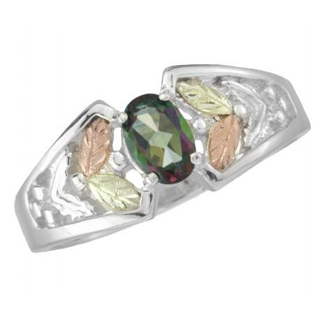 Black Hills Gold .925 Silver Mystic Fire Black Hills Ring