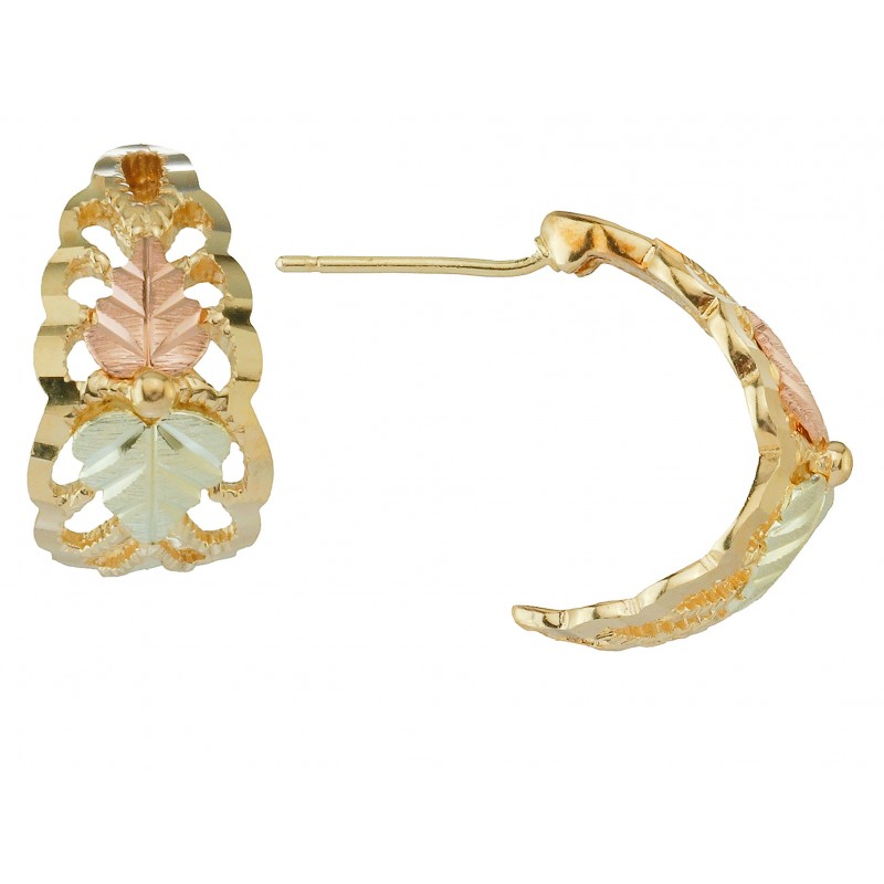 10k Black Hills Gold Hoop Earrings