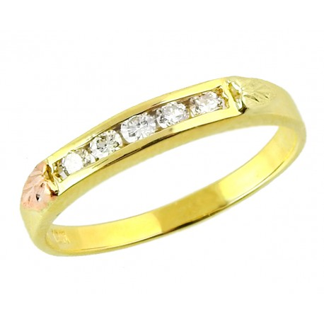 BLACK HILLS GOLD LADIES .25TW DIAMOND RING