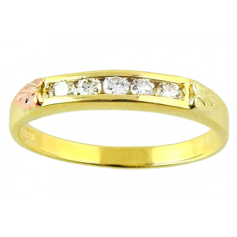 10k Black Hills Gold 25tw Diamond Engagement Ring