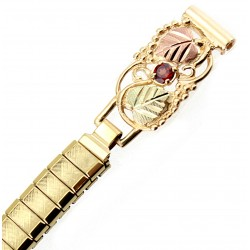 10K Black Hills Gold & 12K Leaves on Ladies Watchband