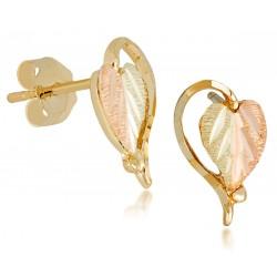 Landstrom's® Small Black Hills Gold Heart-Leaf Earrings