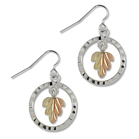 Landstrom's® Black Hills Gold on Sterling Silver Circle Earrings