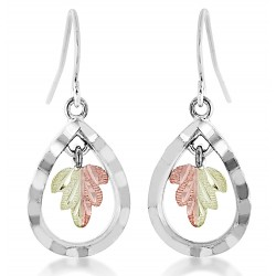 Landstrom's® Black Hills Gold on Sterling Silver Teardrop Earrings
