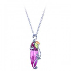 Black Hills Gold Silver Ladies Synthetic Pink Zircon Pendant Necklace