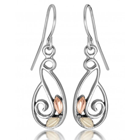 Landstrom's® Black Hills Gold on Sterling Silver Freeform Earrings