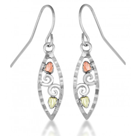Landstrom's® Black Hills Gold on Sterling Silver Dangle Earrings