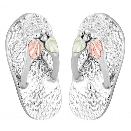 Landstrom's® Black Hills Gold on Sterling Silver Flip Flop Stud Earrings