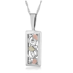 Black Hills Gold on .925 Sterling Silver Pendant Necklace
