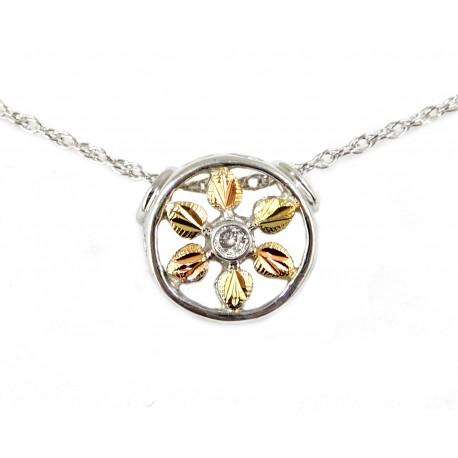 Landstrom's® Black Hills Gold on Sterling Silver Diamond Pendant Necklace
