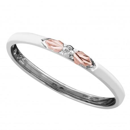 Landstrom's® Black Hills Gold Stackable White Gold Ring
