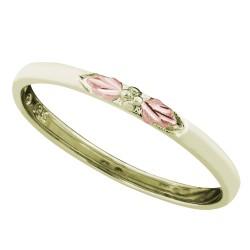 Landstrom's® Black Hills Gold Stackable Green Gold Ring