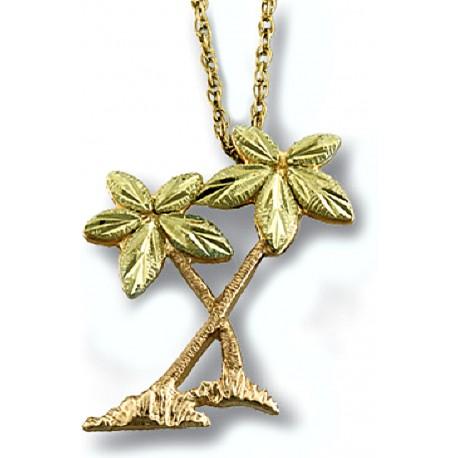 Landstrom's® 10K Black Hills Gold Palm Trees Pendant