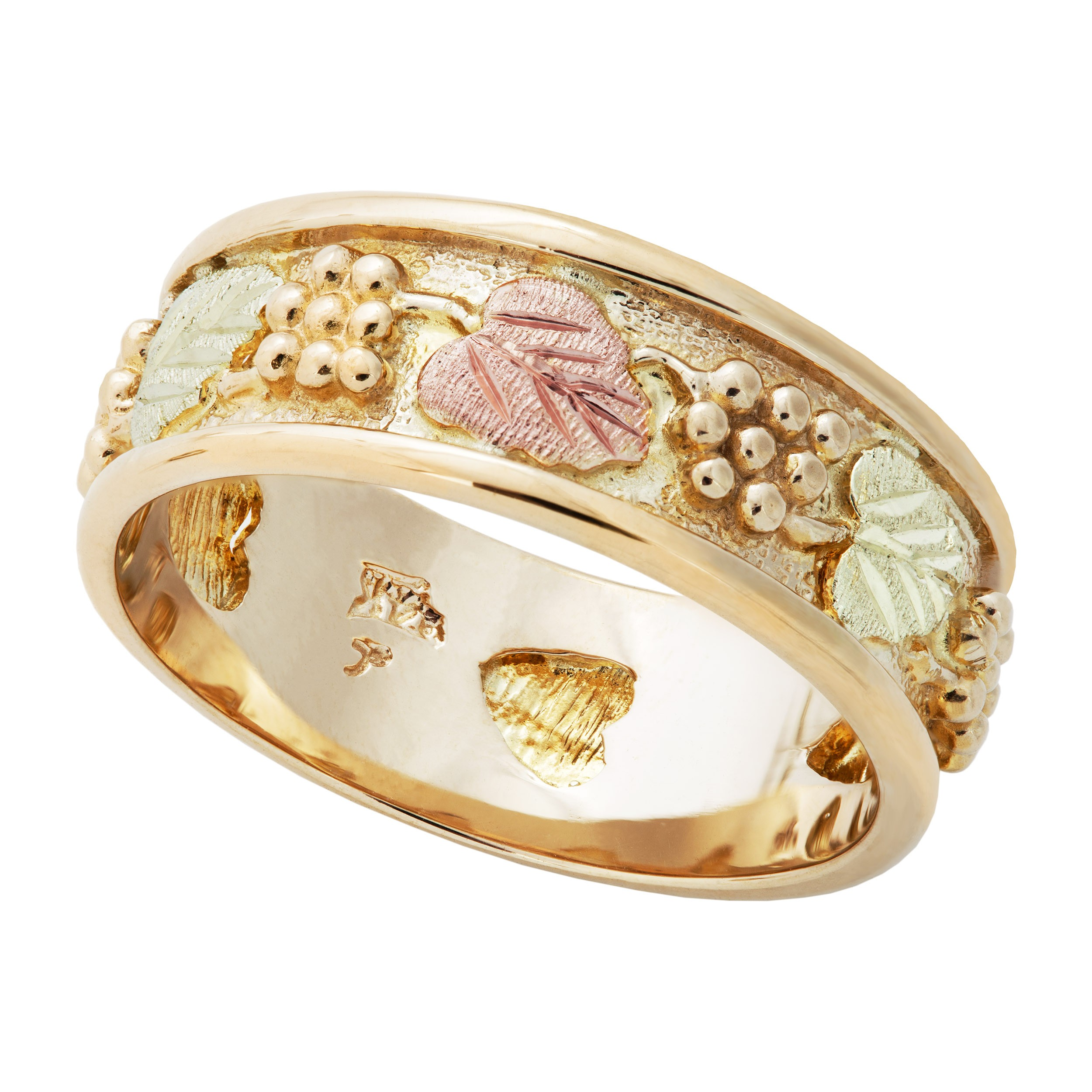 in cluster tri ring bands diamond gold tw colored