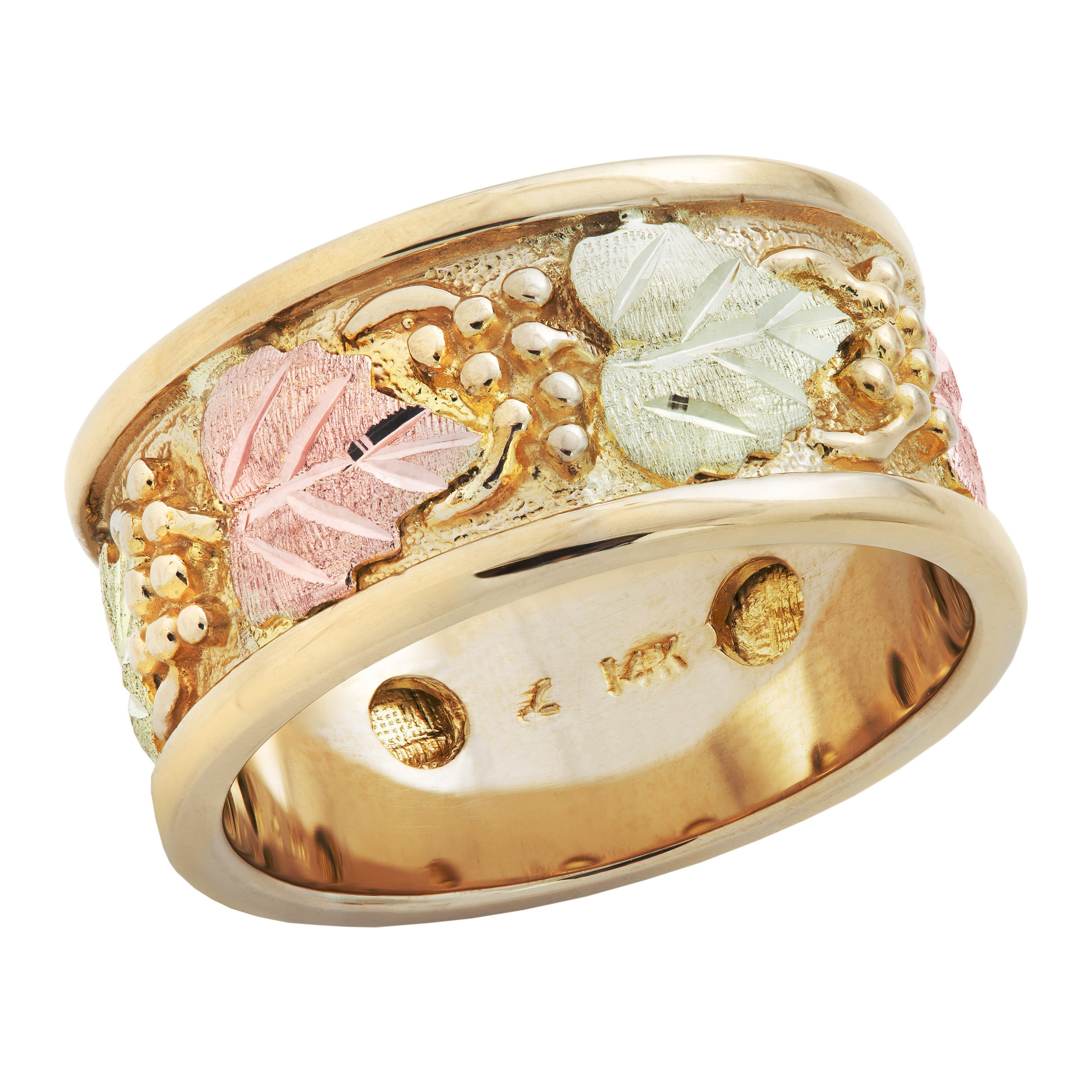 diamond colored the tri gives color cluster row gold ring big karat pin ultimate intricate bands this