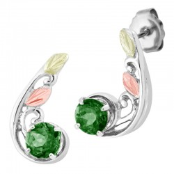 Landstrom's® Black Hills Gold on Sterling Silver Soude Emerald Earrings