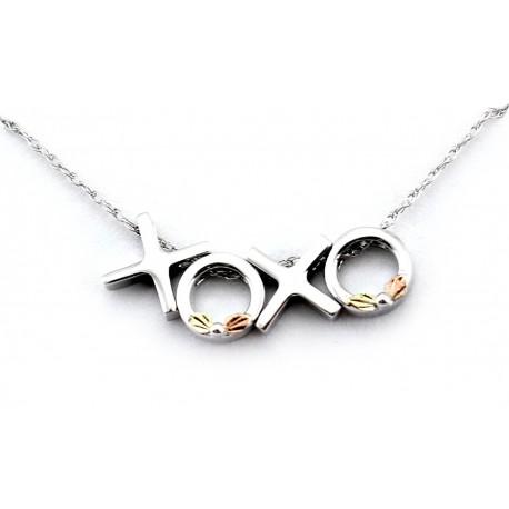 Landstrom's® Black Hills Gold on Sterling Silver XOXO Pendant