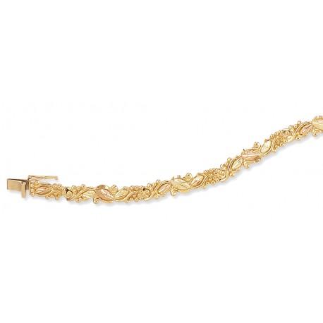 Landstrom's® Black Hills Gold Bracelet with Leaves and Grapes