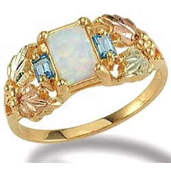 Size 8 Black Hills Gold Opal Ring by Landstrom's®