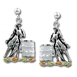 Landstrom's® Black Hills Gold on Sterling Silver Barrel Racer Earrings