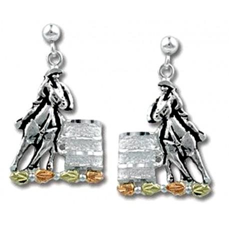 Landstrom's® Black Hills Gold on Sterling Silver Barrel Racer Earrings