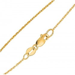 10K Solid Yellow Gold Cable Chain 20-Inch Long