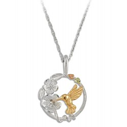 Landstrom's  Sterling Silver Black Hills Ladies Hummingbird Pendant