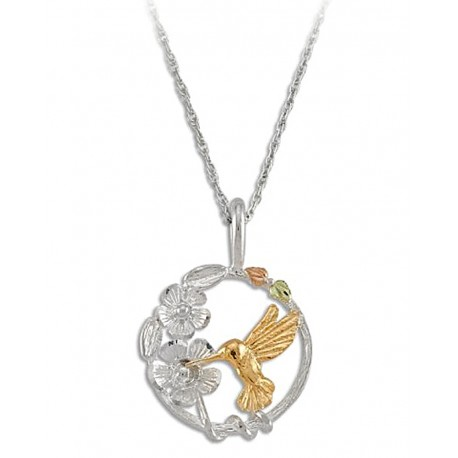 BEAUTIFUL STERLING SILVER BLACK HILLS LADIES HUMMINGBIRD PENDANT
