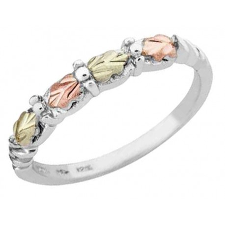 Black Hills Gold on Sterling Silver Ladies Ring by Mt. Rushmore
