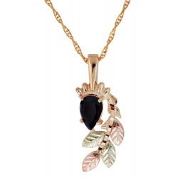 10K Black Hills Gold Pendant with Black Onyx