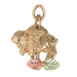10K Black Hills Gold Buffalo Charm