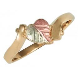 10K Black Hills Gold Ladies Heart Ring