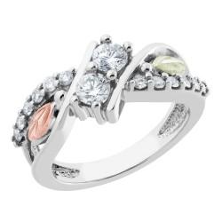 Stunning  Black Hills Gold Tri-color 2BeLoved Diamond Ring