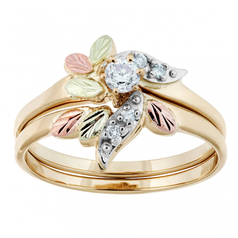 Rose Gold Engagement Rings With Leaves