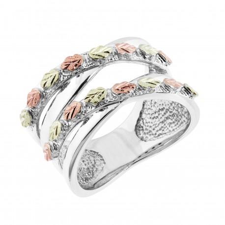 Landstrom's® Black Hills Gold on Sterling Silver Leaves Ring