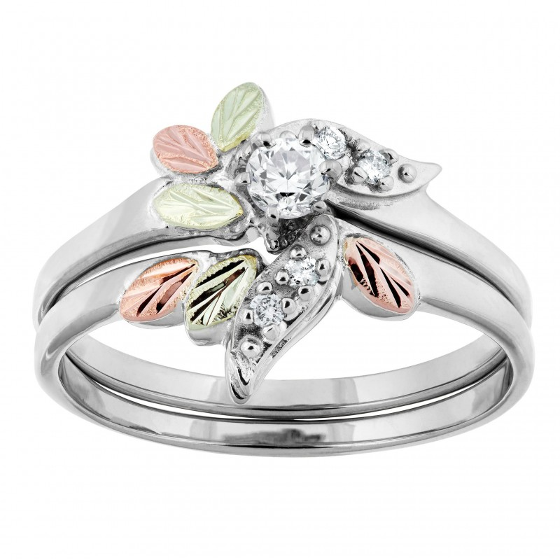 Black Hills White Gold And 21 Ct Tw Of Diamond Engagement