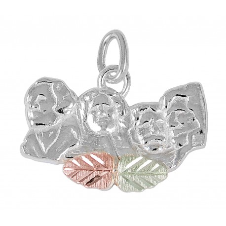 Black Hills Gold on Sterling Silver Mt. Rushmore Charm