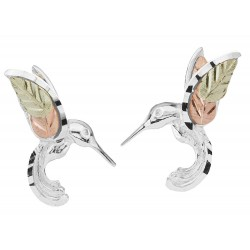 Black Hills Gold on Sterling Silver Hummingbird Earrings