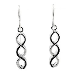 Black Hills Sterling Silver Infinity Earrings