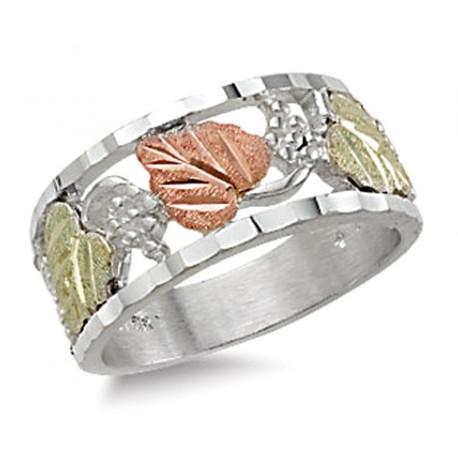 Landstrom's® Black Hills Gold Sterling Silver Ladies Band Ring