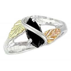 Landstrom's® Black Hills Gold on Sterling Silver Onyx Ring