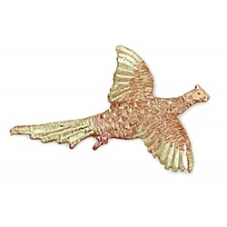 Landstrom's® 10K Black Hills Gold Pheasant Tie Tack / Label Pin